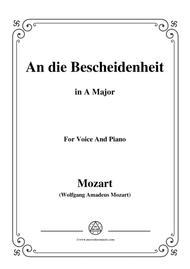 Mozart-An die bescheidenheit,in A Major,for Voice and Piano