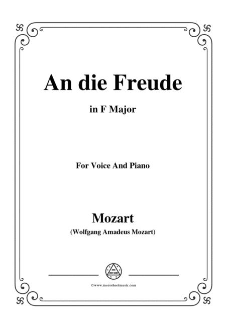Mozart-An die freude,in F Major,for Voice and Piano