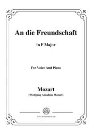Mozart-An die freundschaft,in F Major,for Voice and Piano