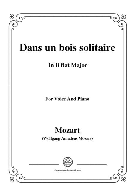 Mozart-Dans un bois solitaire,in B flat Major,,for Voice and Piano