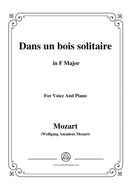 Mozart-Dans un bois solitaire,in F Major,for Voice and Piano
