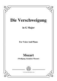 Mozart-Die verschweigung,in G Major,for Voice and Piano