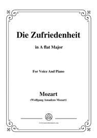 Mozart-Die zufriedenheit,in A flat Major,for Voice and Piano