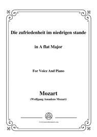 Mozart-Die zufriedenheit im niedrigen stande,in A flat Major,for Voice and Piano