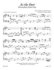 As the Deer (Intermediate Sacred Piano Solo)