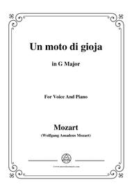 Mozart-Un moto di gioja,in G Major,for Voice and Piano