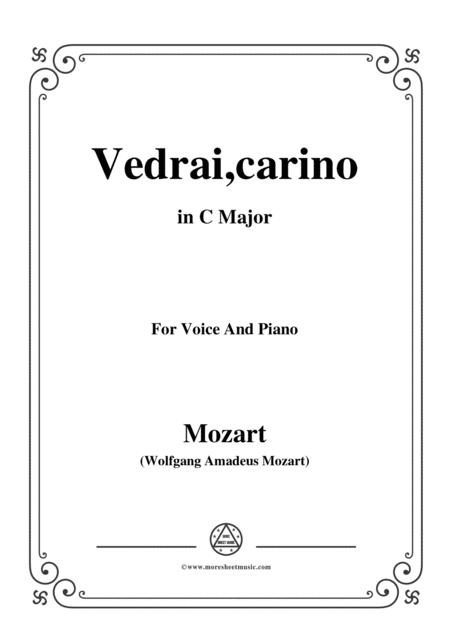 Mozart-Vedrai,carino,in C Major,for Voice and Piano