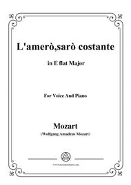 Mozart-L'amerò,sarò costante,from 'Il Re Pastore',in E flat Major,for Voice and Piano