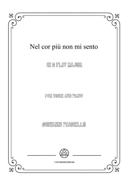Paisiello-Nel cor più non mi sento in G flat Major,for Voice and Piano