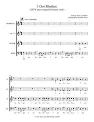 I Got Rhythm - SATB a cappella unaccompanied mixed choir
