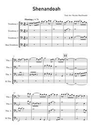 Shenandoah for Trombone Quartet