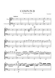 Canon in D for Flute and Cello