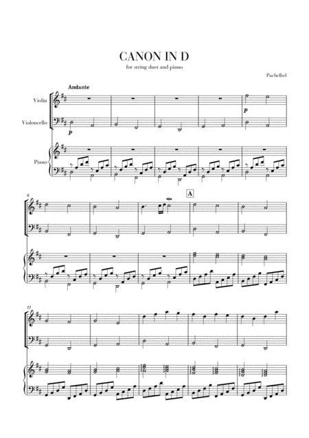 Canon in D for Violin, Cello and Piano