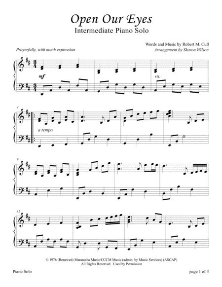 Open Our Eyes (Sacred Piano Solo)