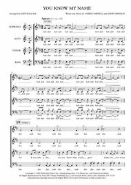 You Know My Name from CASINO ROYALE (SATB a cappella)