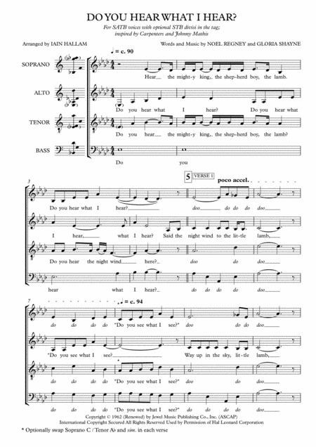 Do You Hear What I Hear (SATB a cappella)