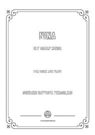 Pergolesi-Nina in f sharp minor,for Voice and Piano