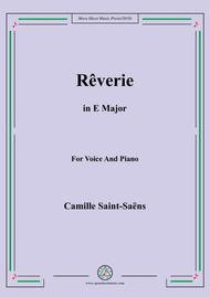 Saint-Saëns-Rêverie in E Major,for Voice and Piano