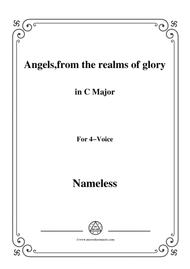 Nameless-Christmas Carol,Angels,from the realms of glory,in C Major,for voice and piano