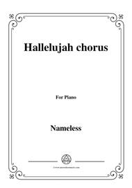 Nameless-Hallelujah chorus,for piano