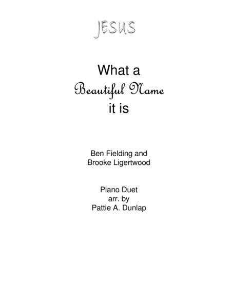 What A Beautiful Name, piano duet