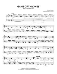 Game Of Thrones, Main Title Theme (Piano Solo)
