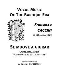CACCINI Francesca: Se muove a giurar, canzonetta, arranged for Voice and Piano (E minor)