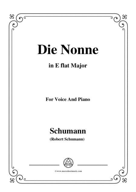 Schumann-Die Nonne,in E flat Major,for Voice and Piano