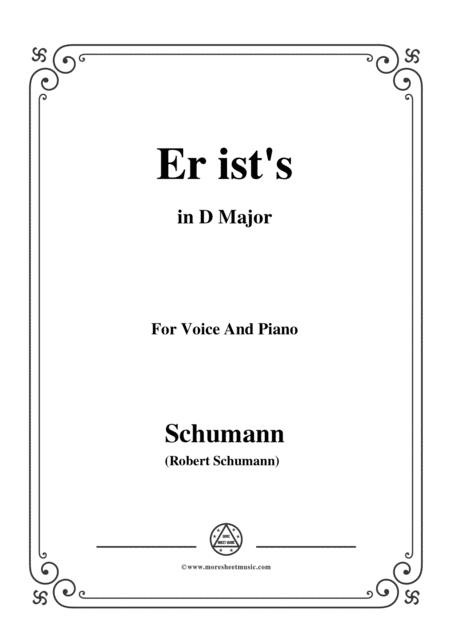 Schumann-Er ist's,in D Major,Op.79,No.24,for Voice and Piano