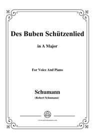 Schumann-Des Buben Schützenlied,in A Major,Op.79,No.26,for Voice and Piano
