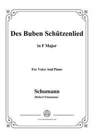 Schumann-Des Buben Schützenlied,in F Major,Op.79,No.26,for Voice and Piano