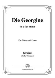 Richard Strauss-Die Georgine in e flat minor,for Voice and Piano