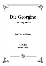 Richard Strauss-Die Georgine in c sharp minor,for Voice and Piano