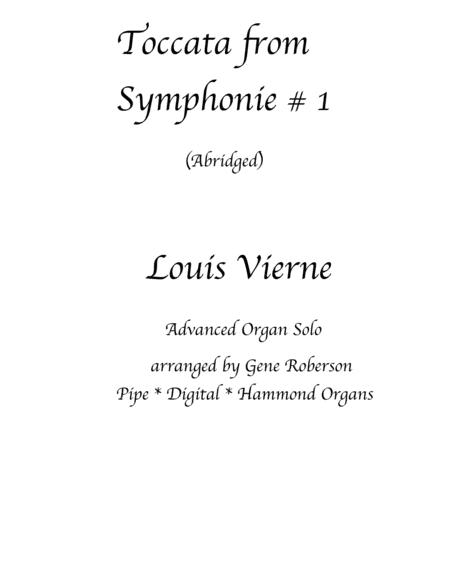 Toccata by Louis Vierne (ABRIDGED for Postlude) ORGAN