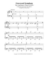 Graveyard Symphony (The Undertaker's Theme) - late intermediate piano