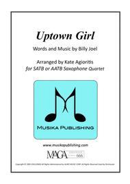 Uptown Girl - Billy Joel - for Saxophone Quartet