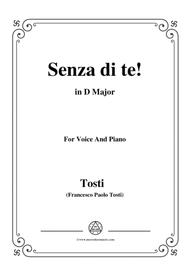 Tosti-Senza di te! In D Major,for voice and piano
