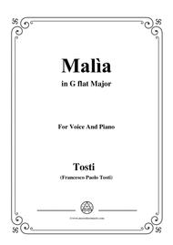 Tosti-Malìa in G flat Major,for Voice and Piano
