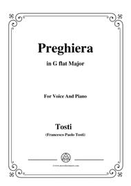 Tosti-Preghiera in G flat Major,for Voice and Piano