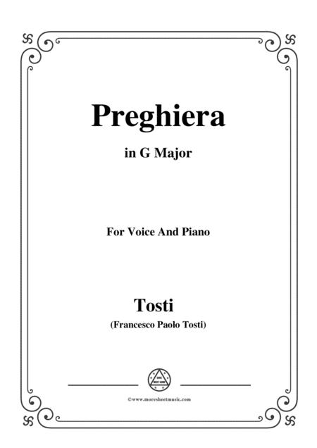 Tosti-Preghiera in G Major,for Voice and Piano