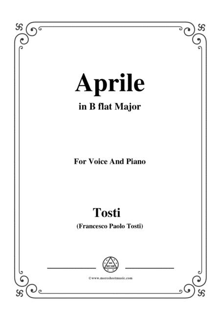 Tosti-Aprile in B flat Major,for Voice and Piano