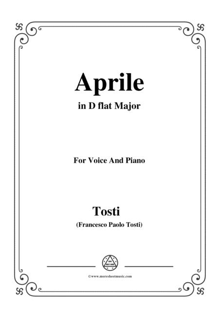 Tosti-Aprile in D flat Major,for Voice and Piano