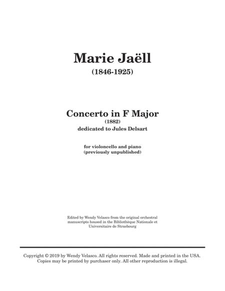 Concerto for Cello in F Major by Marie Jaëll (1846-1925)