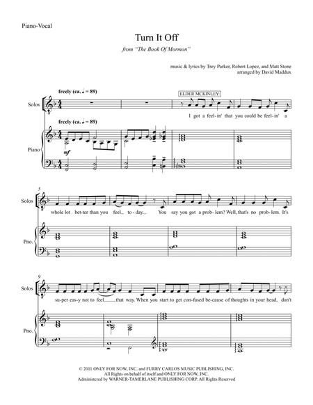 Book Of Mormon Sheet Music