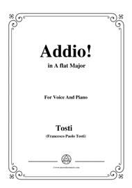 Tosti-Addio! In A flat Major,for Voice and Piano