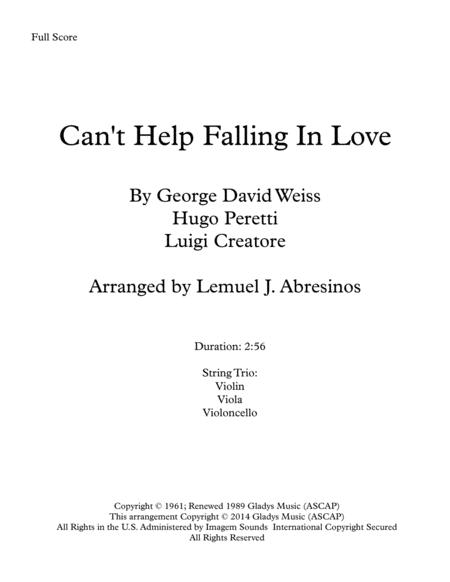 Can't Help Falling In Love, String Trio