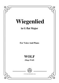 Wolf-Wiegenlied in G flat Major,for Voice and Piano