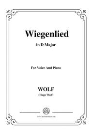 Wolf-Wiegenlied in D Major,for Voice and Piano
