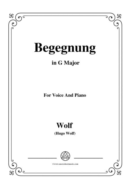 Wolf-Begegnung in G Major,for Voice and Piano