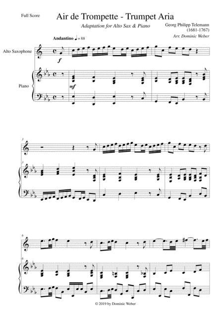 Georg Philipp Telemann - Air de Trompette / Trumpet Aria for Alto Saxophone & Piano